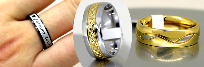 Titanium Wedding Rings by Gullei.com