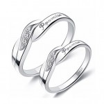 Personlig Promise Rings Set for 2