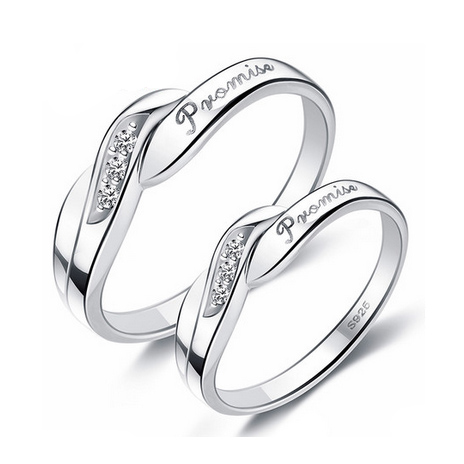 Personalized Promise Rings Set for 2