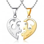Customized Half Heart Necklaces Set for Two